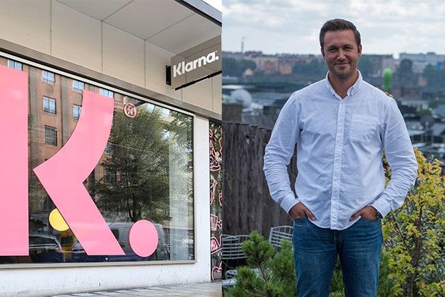 Kollage Klarnas entré och helkroppsbild Joakim Lundberg
