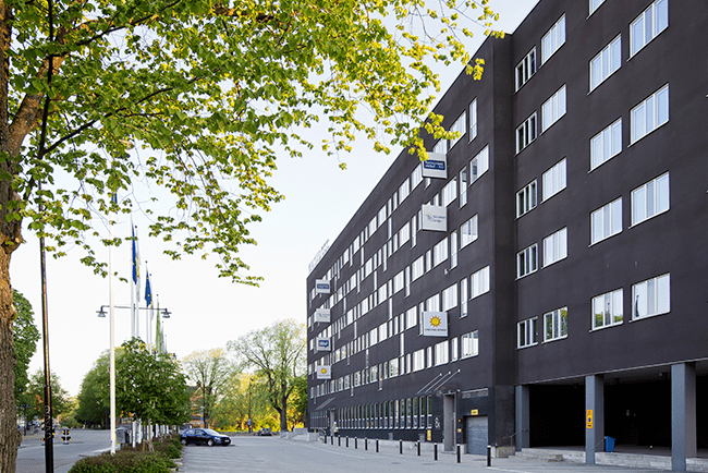 Utvändig fasadbild av Konsumentverkets kontor
